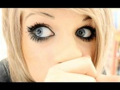 This girls eyes look huge! I wish I could do thus without looking like I have black eyes