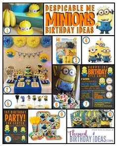 Minions Despicable Me Birthday Party Ideas – Themed Birthday Ideas – Party Inspiration, Ideas, and Products