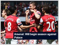 Arsenal open against Palace