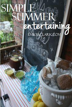 Simple summer entertaining tips:  http://emilyaclark.com/2013/08/simple-summer-entertaining-my-outdoor.html