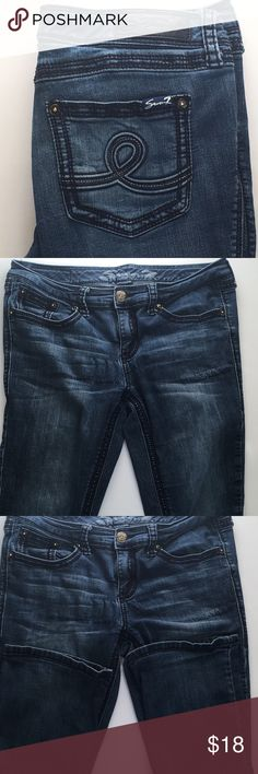 Seven7 jeans factory distressed Factory distressed, gently used. Slim bootcut Seven7 Jeans Boot Cut