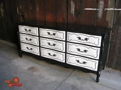 CUSTOM ORDERS - Vintage & Refurbished Furniture - Dressers, Desks, Nightstands - You Choose Colors. $500.00, via Etsy.