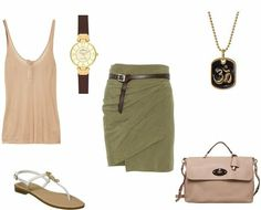 soft autumn casual: olive green with a dash of buttermilk or rose