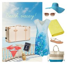 """""""Beach vacay!"""" by jamsworld ❤ liked on Polyvore featuring Antonello, BP., La Perla, Globe-Trotter, Olympia Le-Tan, Hipanema, Sun Bum and Thierry Lasry"""