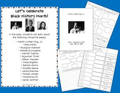free graphic organizers for black history month-particularly 3rd grade