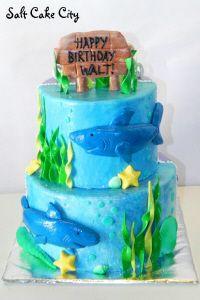 Salt Cake City Shark Birthday Cake