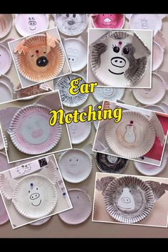 Ear notching activity with paper plates! Picture only! Fun way to learn ear notching Ag Science, Animal Science, Science Lessons, Teaching Science, Learning Activities, Teaching Aids, Teaching Tools, Ag Day, Farm Lessons