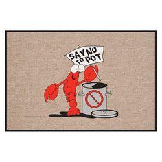 High Cotton Say No to Pot Lobster Indoor/Outdoor Doormat - M720