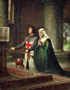 art by Edward Blair Leighton   Victorian British Painting