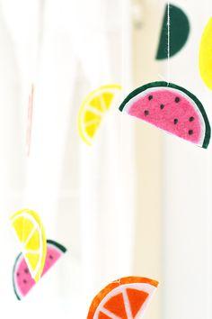 DIY Fruit Baby Mobile