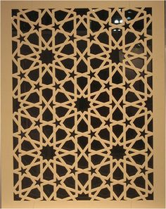 Islamic patterns by Craig Kaplan, Laser cut corian (DuPont donation, laser cutting by Bud Saggal, precision Laser RI) Cnc Cutting Design, Laser Cutting, Motifs Islamiques, Jaali Design, Prayer Corner, Laser Cut Screens, Islamic Art Calligraphy, Caligraphy, Plafond Design