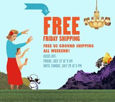 Free US Ground Shipping at Blik all weekend long.