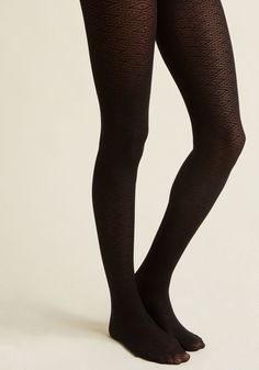 Pointelle a Story Tights in Black