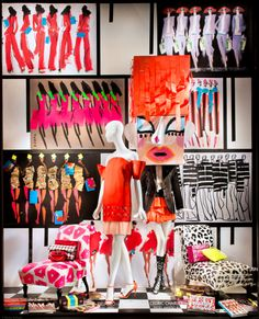"BERGDORF GOODMAN,New York, ""Art Bomb by Donald Robertson"", pinned by Ton van der Veer"