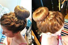 Ballerina bun with braids! ❤