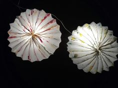 Paper light , paper lamp, handmade origami interior design , Green , by Eco Wedding Design, paper art Rome