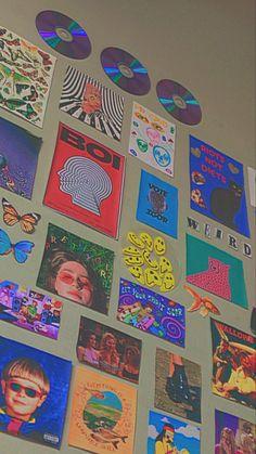 Indie Bedroom, Indie Room Decor, Diy Wall Decor For Bedroom, Room Ideas Bedroom, Chambre Indie, Pinterest Room Decor, Retro Room, Cute Room Ideas, Aesthetic Room Decor