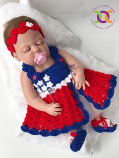 A personal favourite from my Etsy shop https://www.etsy.com/uk/listing/521488400/crochet-baby-pattern-4th-of-july-crochet