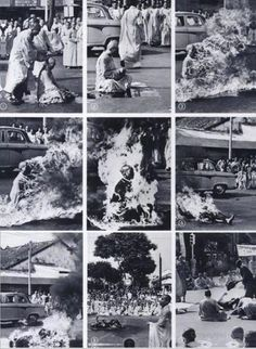 Thich Quang Duc. 1963. Malcolm Browne.