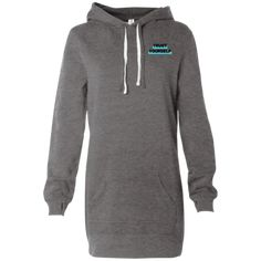 Look cute and feel comfy after practice, running errands, or just lounging in this comfortable, cozy hoodie dress from FanWear Hawaii! Hooded Dress, Nursing Dress, Hoods, T Shirts For Women, Pullover, Crossover, How To Wear, Tape, Size Chart