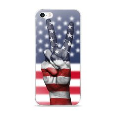American Flag Peace Sign Phone Cases by Amazon Channel Ninja | Inktale