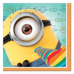 Keep Minions at your party clean with Despicable Me Beverage Napkins! Small Minion napkins feature 3 minions celebrating and throwing confetti. Minion Party Games, Minion Party Supplies, Halloween Supplies, Despicable Me 2 Minions, My Minion, Minion Stuff, Minion Theme, Minion Movie, Funny Minion
