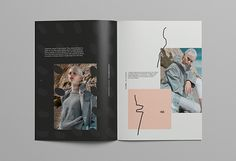 An editorial look book design for a fashion project inspired by futurist and modernist movements and aesthetics.