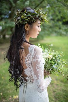 Lace wedding dress back Wedding Photography by Photographs by Eve