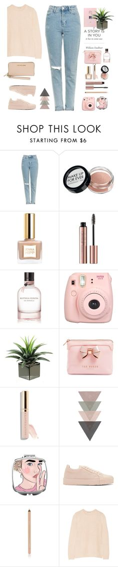 """Untitled #512"" by jovana-p-com on Polyvore featuring Topshop, Bottega Veneta, Fujifilm, Ted Baker, Beautycounter, Jil Sander, Autumn Cashmere and Michael Kors"