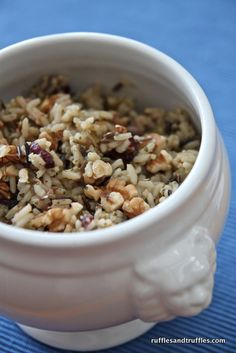 wild rice with apples craisins and walnuts