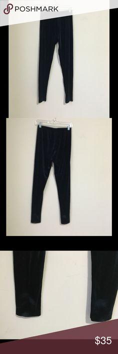 Neiman Marcus Blue Black Legging M In very good condition, little fading on hems. Neiman Marcus Pants Leggings