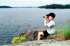 Young bird watcher. #summer #Finland #nature