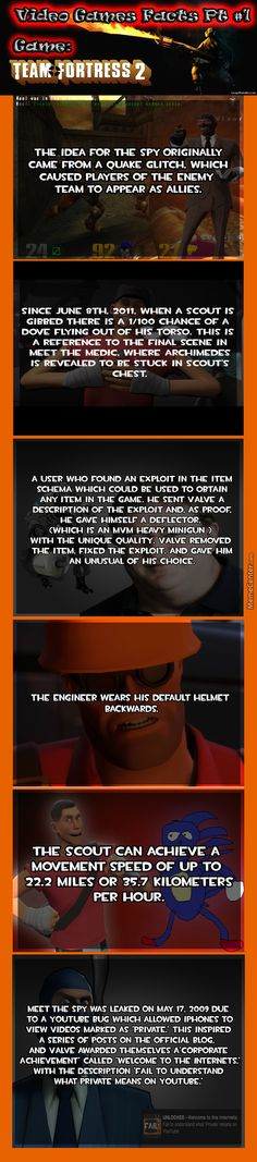 TF2-Video Game Facts ( Pinned by @GreyRose_ ) #TF2 #TeamFortress #VideoGames