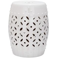 Shop for Safavieh Paradise Harmony White Ceramic Garden Stool. Get free shipping at Overstock.com - Your Online Garden