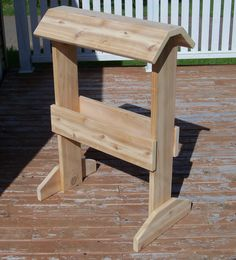 Cedar saddle rack, keep that expensive saddle in a safe place! For sale $150 info@kerrywoodworking.com