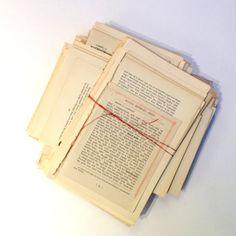 Pagine di libro di testo d'epoca. Carta di VintageCuriosityShop, £1.75