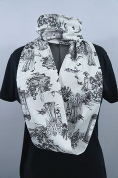 883fe15d47 Doctor Who Weeping Angels Toile Infinity Scarf from Nerd Alert Creations  Doctor Who Scarf
