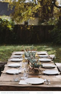 Rustic Autumn lunch table | Photo: Q Avenue Photo, Styling: Lauren Ledbetter Design & Styling
