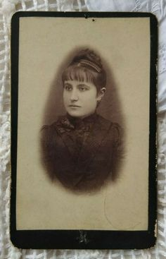 Antique CDV/visit card, nice lady in black, black rose, cca. late 1800s' Nice, Lady, Black Women, Antiques, Painting, Antiquities, Antique, Painting Art, Paintings