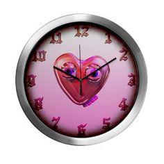 Goofy heart love Modern Wall Clock $44.49 By Valxart.com