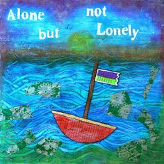 Alone but not Lonely Alone, Mixed Media, Painting, Design, Art, Art Background, Painting Art, Kunst