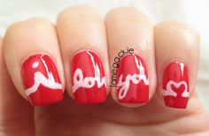 Jamegackie: I Love You! Nails This would be a sweet tattoo... Like a heartbeat then have it saying that.