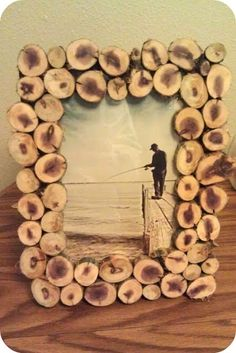 Dys para decorar con rodajas de madera