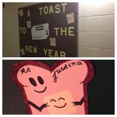 January - New Years Resolutions #doordecs and bulletin board