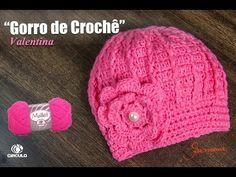72b11064d2102 Gorro   Touca de Crochê Valentina - Professora Simone