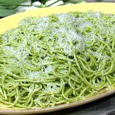the chew | Recipe  | Mario Batali's Spaghetti With Green Tomatoes