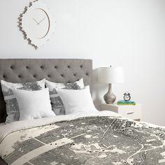 CityFabric Inc San Francisco White Duvet Cover | DENY Designs Home Accessories