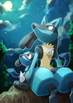 Lucario and Riolu Cool Pokemon Wallpapers, Pokemon Backgrounds, Cute Pokemon Wallpaper, Cute Cartoon Wallpapers, Animes Wallpapers, Pichu Pikachu Raichu, Pokemon Eeveelutions, Cute Pikachu, Pokemon Comics