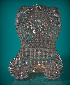 """三寶熊-2.非禮""""勿聽""""熊.  雕塑:村田(Tsuen_Tien) 羅芙設計公司(ROIFDESIGN Co., Ltd.)"""