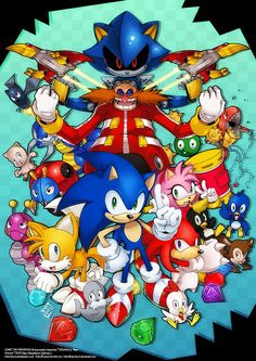Sonic the Hedgehog (ソニック・ザ・ヘッジホッグ Sonikku za Hejjihoggu? Sonic el erizo) es un personaje de videojuegos y la mascota creada por y para SEGA. Sonic The Hedgehog, Silver The Hedgehog, Shadow The Hedgehog, Hedgehog Art, Sonic Team, Sonic Heroes, Sonic Fan Characters, Video Game Characters, Blaze The Cat
